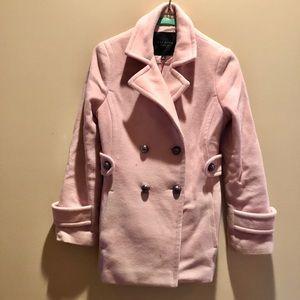 Beautiful Talbots Petite Pink Winter Peacoat Coat